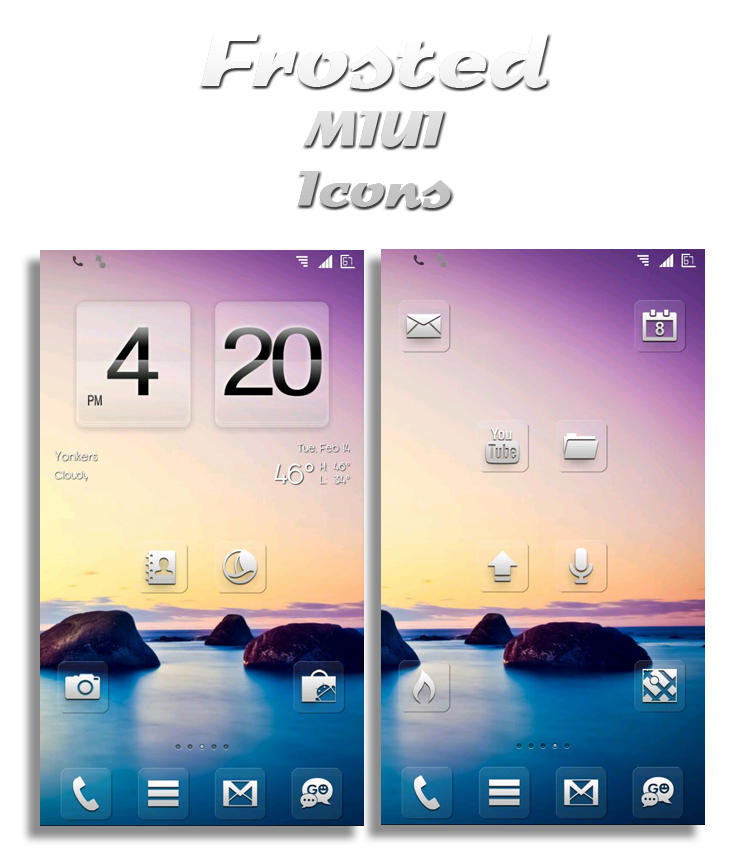 Frosted MIUI Icons v.2 (Updated 2-25) by vanessaem