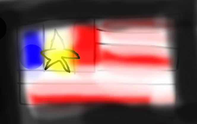French American Flag by ToonPrincessZelda43