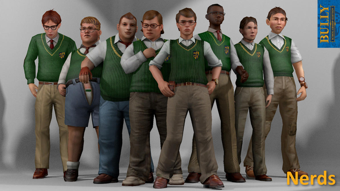 Nerds Clique (Bully) XPS Models by the-architect-x on