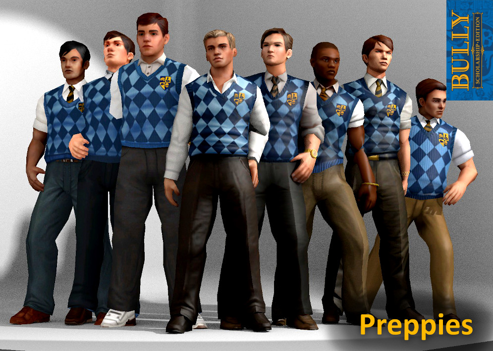 preppies clique bully xps models by thearchitectx on