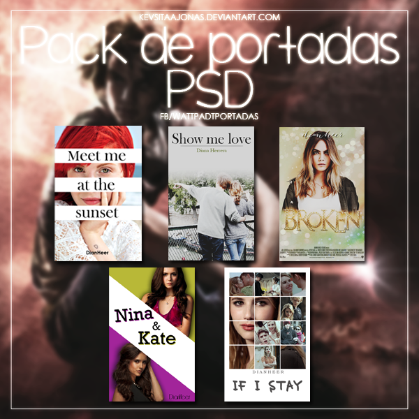 Pack: Portadas para Wattpad en PSD by KevsitaaJonas