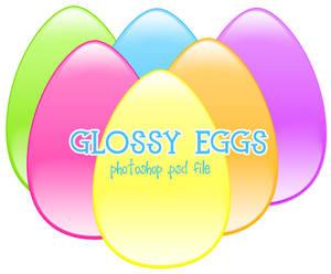 Glossy Easter Eggs