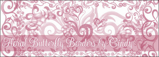 Floral Butterfly Borders
