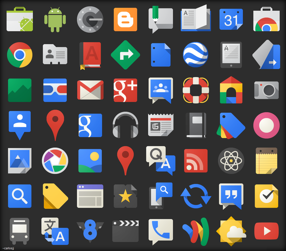 Google Project Kennedy icons compilation