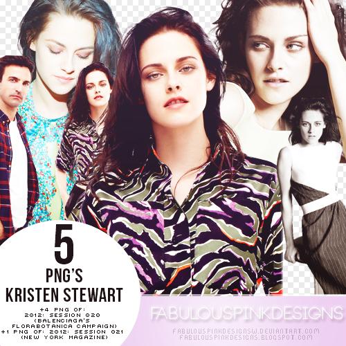 5 Png's Kristen Stewart (2012: Session 020-021) by FabulousPinkDesignsW