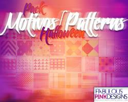Pack Halloween MOTIVOS-PATTERNS by FabulousPinkDesignsW