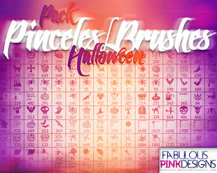 Pack Halloween PINCELES-BRUSHES by FabulousPinkDesignsW