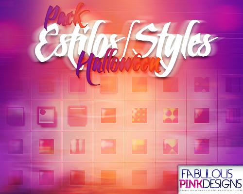 Pack Halloween ESTILOS-STYLES by FabulousPinkDesignsW
