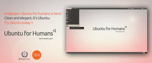 Ubuntu for Humans Wallpaper by Felipi