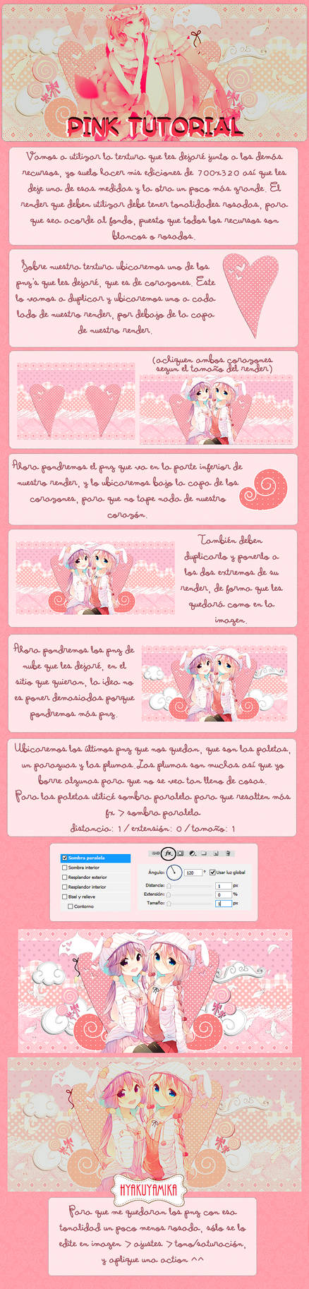 Pink tutorial (spanish and english)
