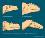 Tyrannosauroidea Portrait series part I