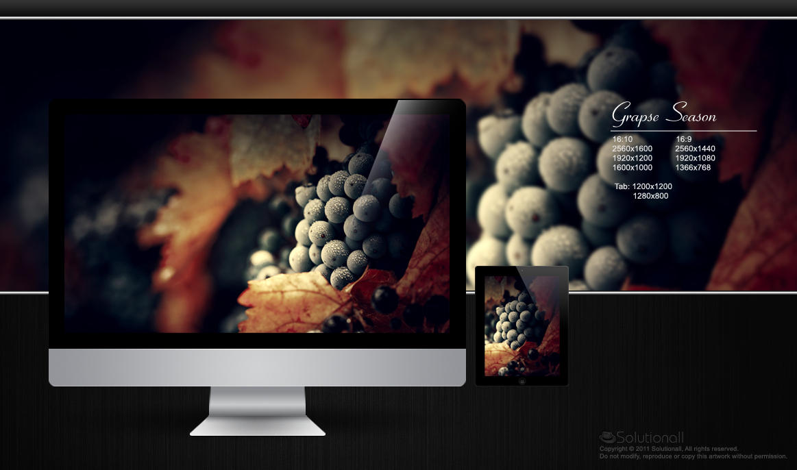 Grapes HD Wallpaper by solutionall