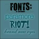 Paramore Fonts