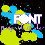 Font Fragments Of Eter