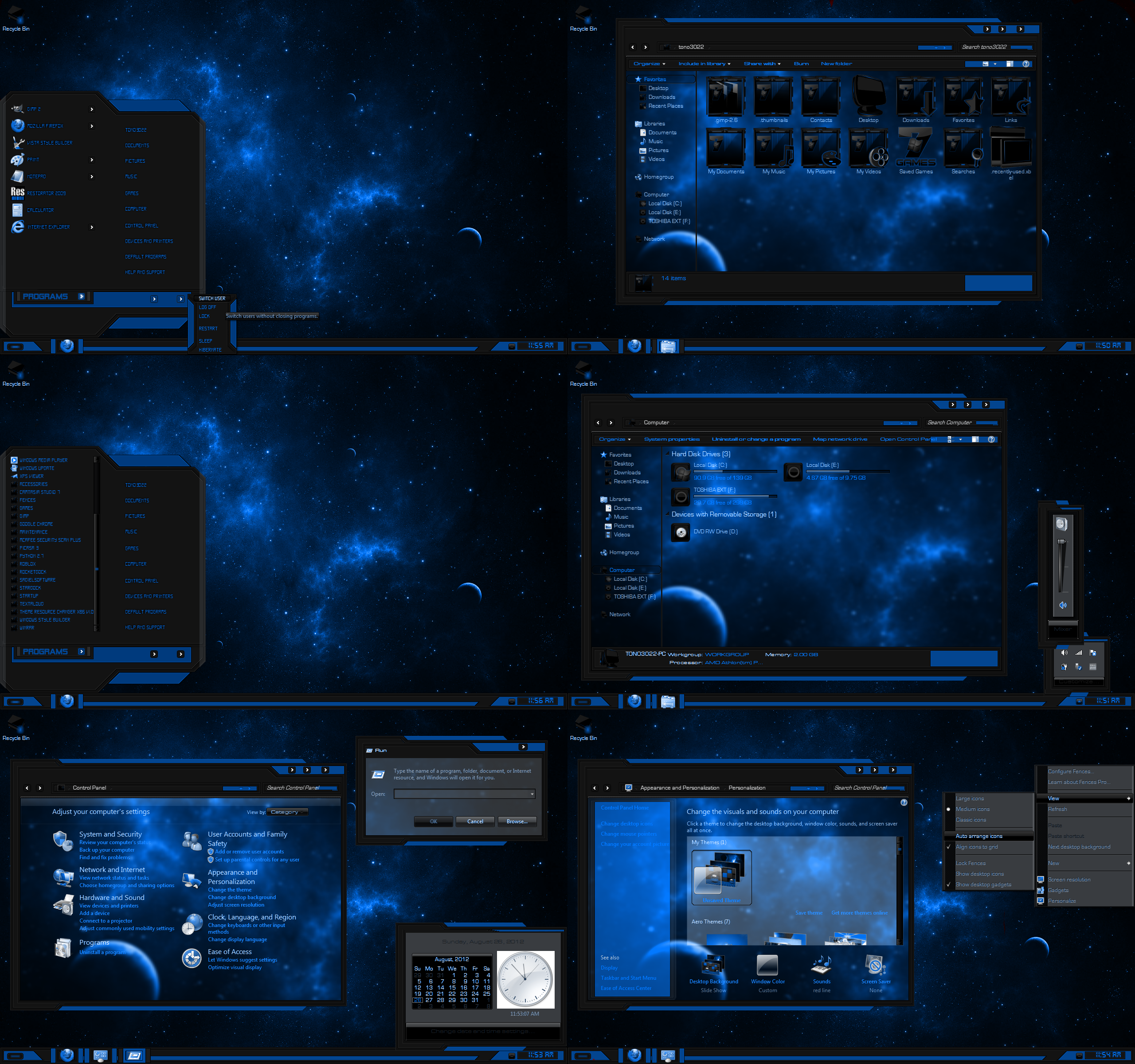 windows 7 theme red lineblue by customizewin7