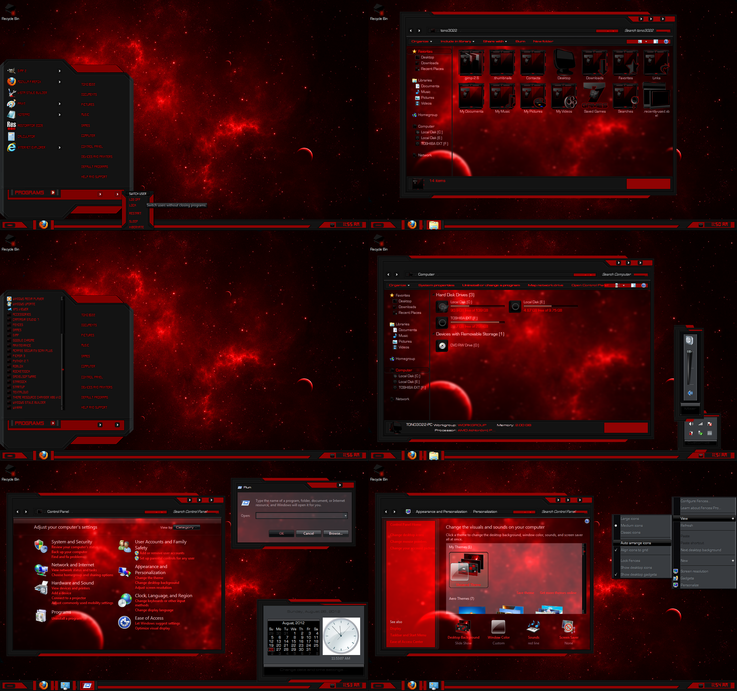 Black seven theme for windows 7 youtube.