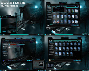 windows 7 theme blue glass (ultra dark) by customizewin7