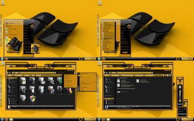 windows 7 theme yellow black