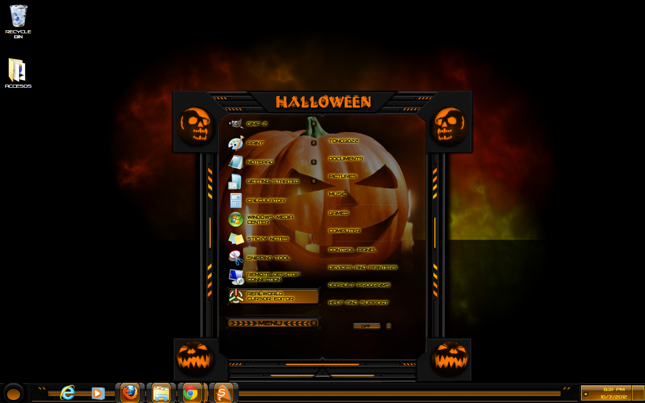 windows 7 theme halloween custom by customizewin7 windows 7 theme halloween custom by customizewin7 - Windows 7 Halloween Theme