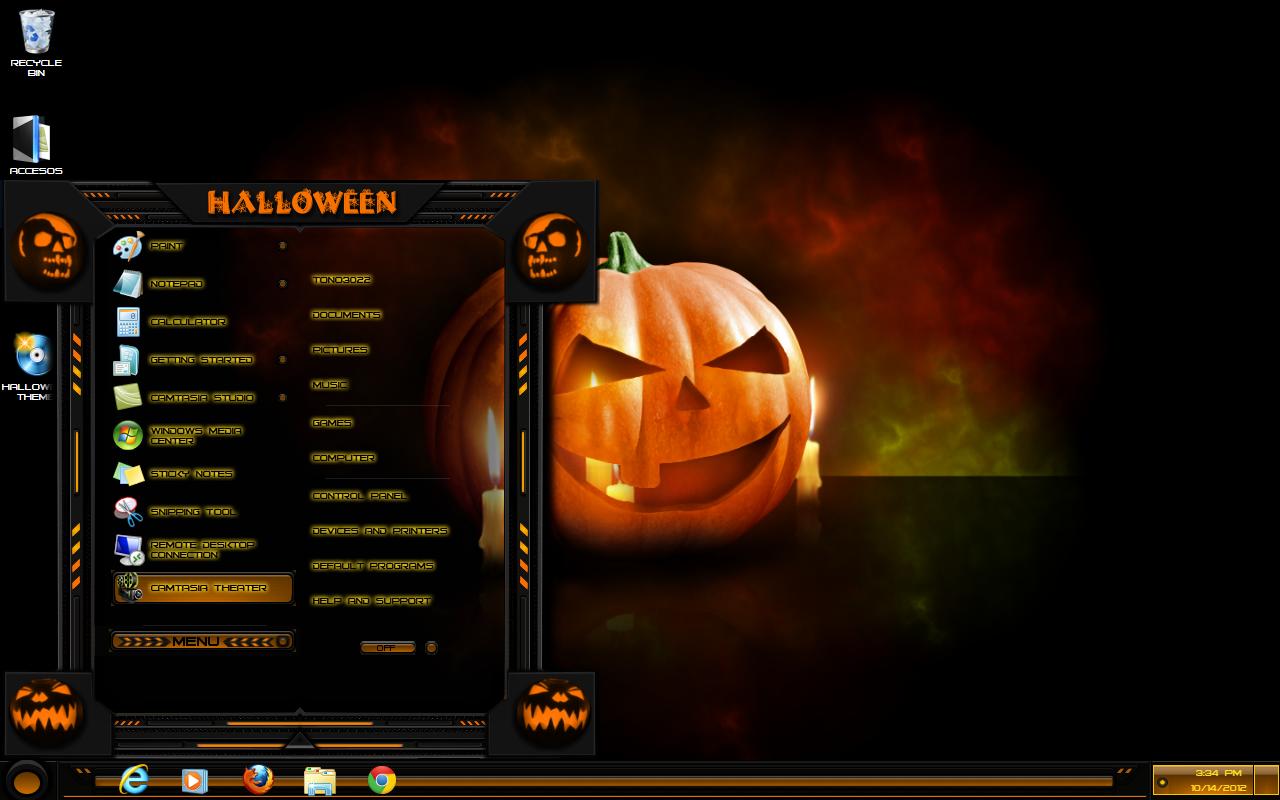 Windows 7 Theme Halloween 2 By Customizewin7 On Deviantart