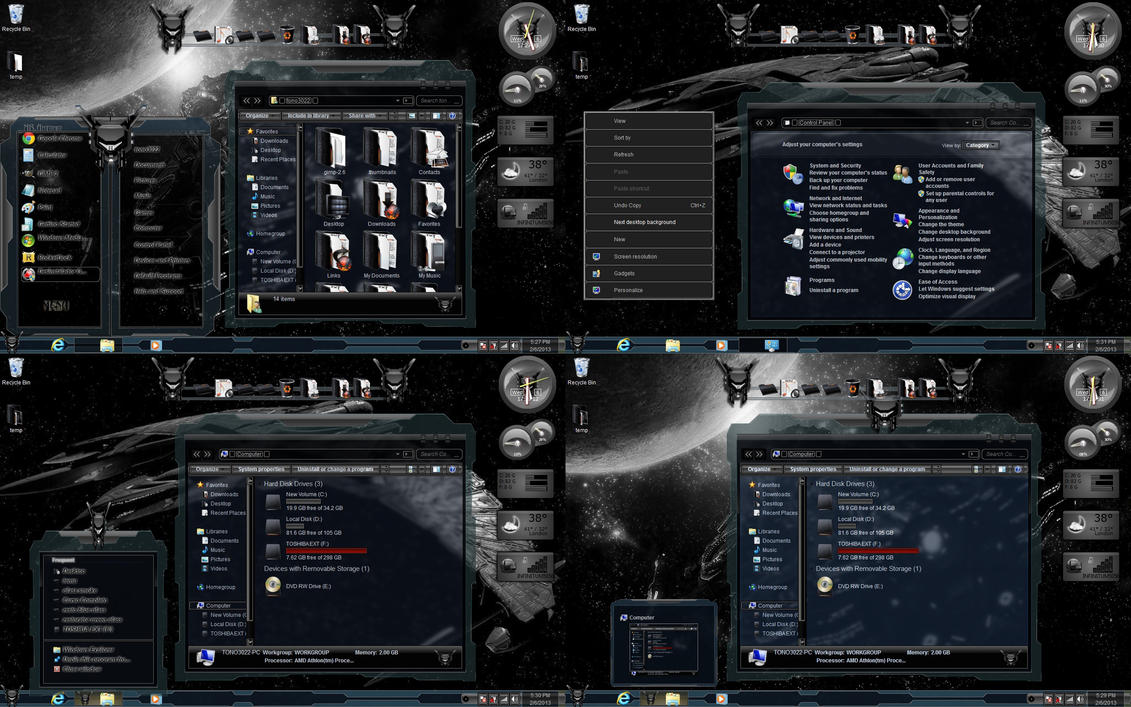 Black Glass theme for Win7