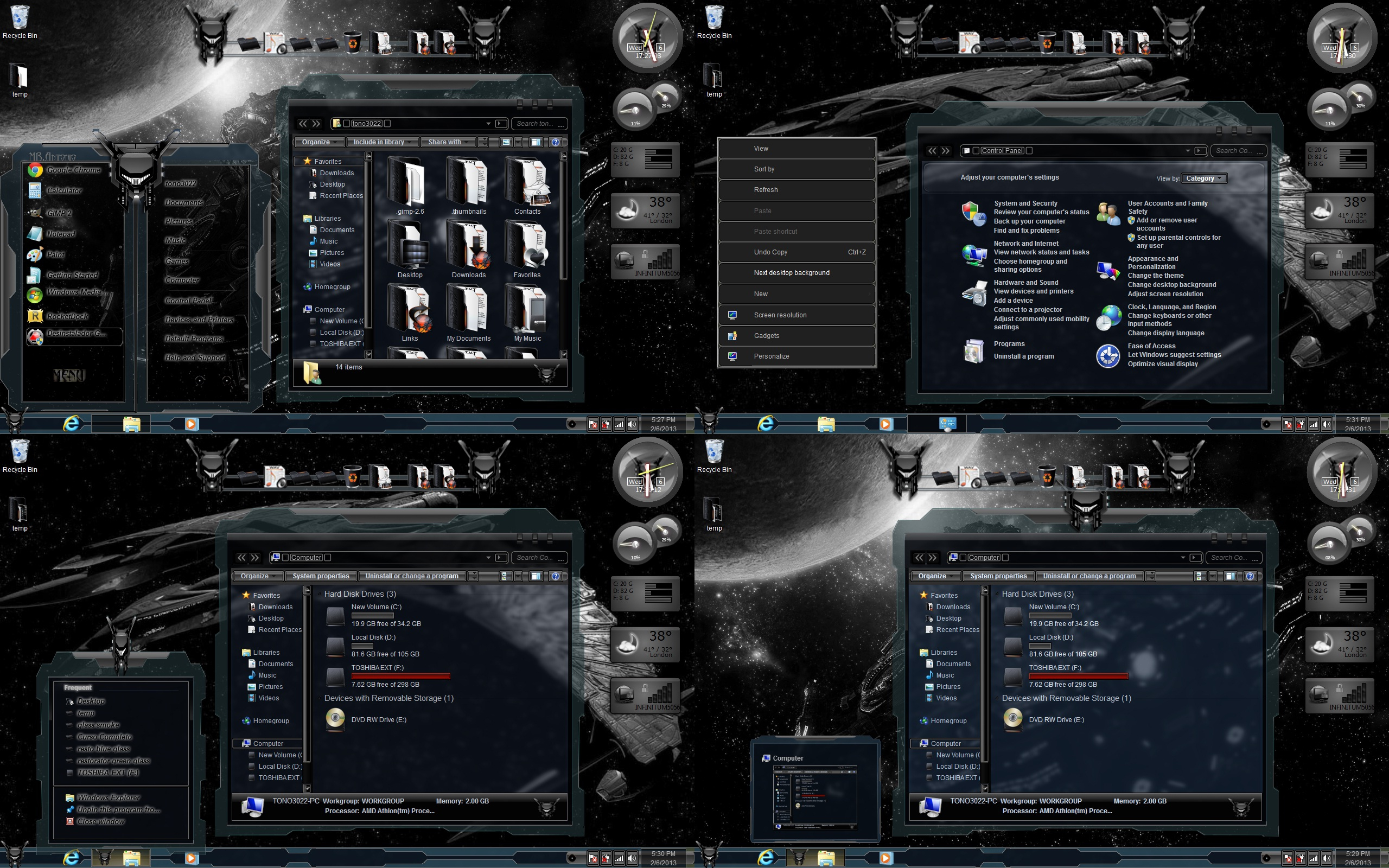 Windows 7 themes glass black by customizewin7 on deviantart for Window 07 themes
