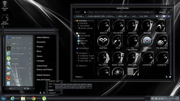 Windows 8 Theme Black Glass