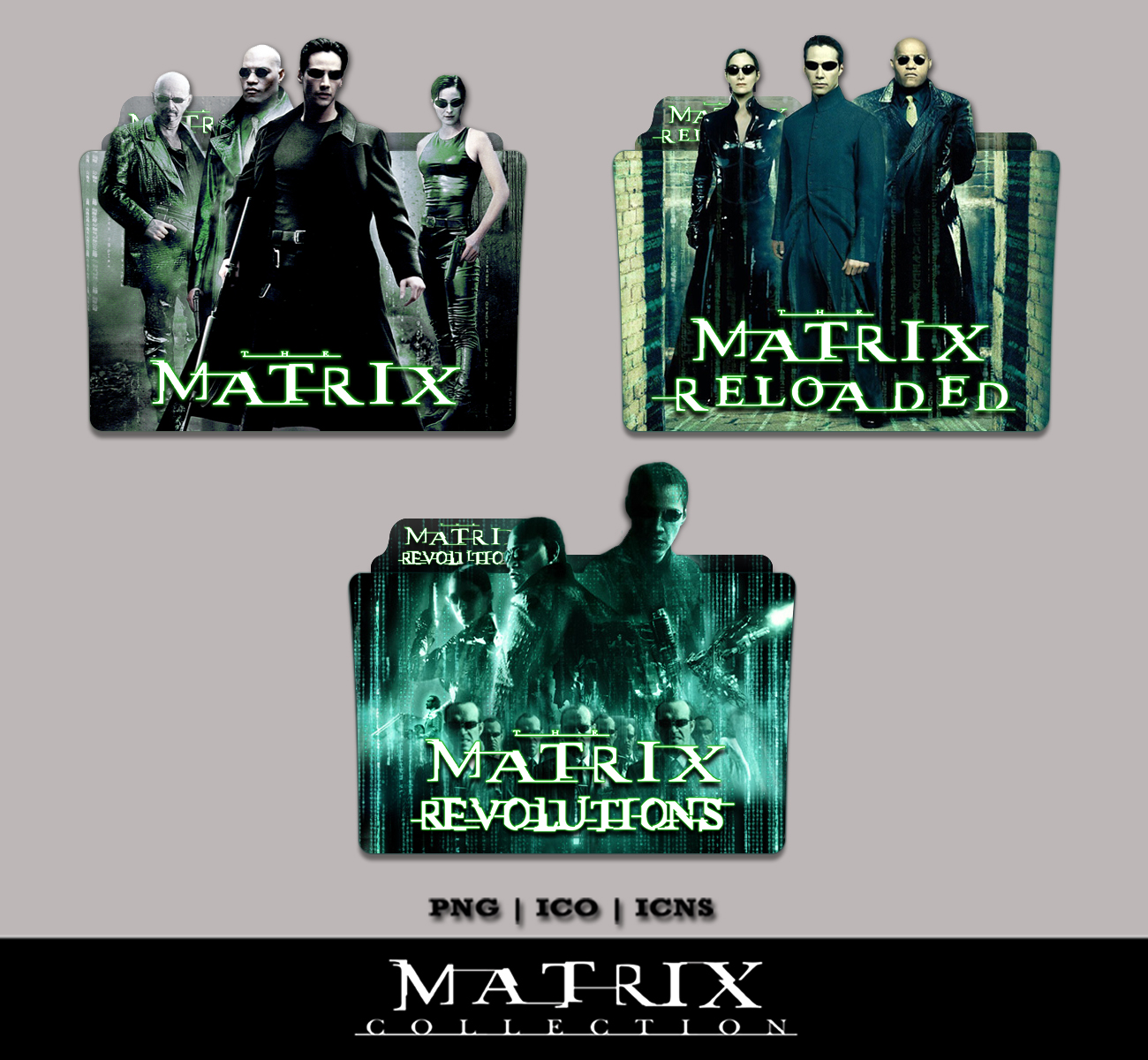 Matrix icon folder video / Coin drop necklace uk elements