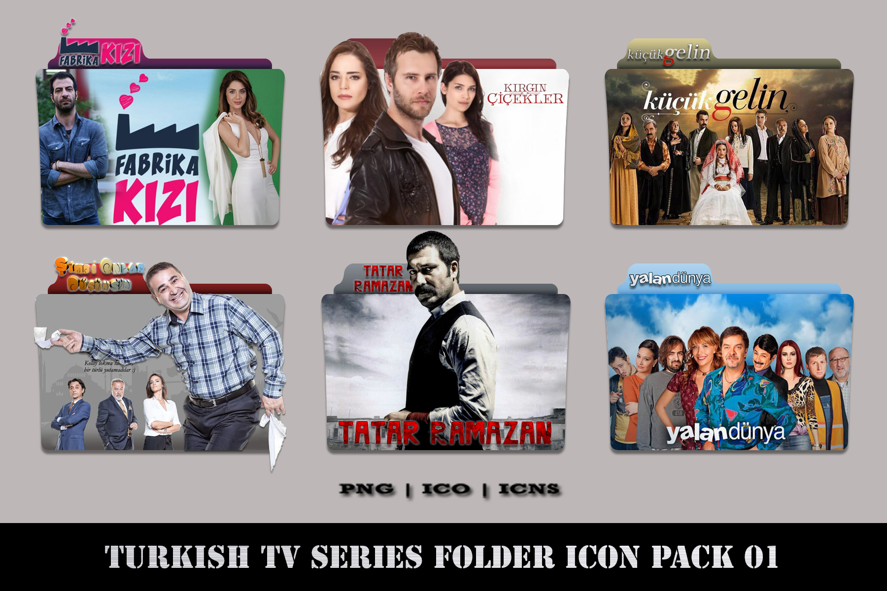 Turkish Tv Series Folder Icon Pack 01  Request  By
