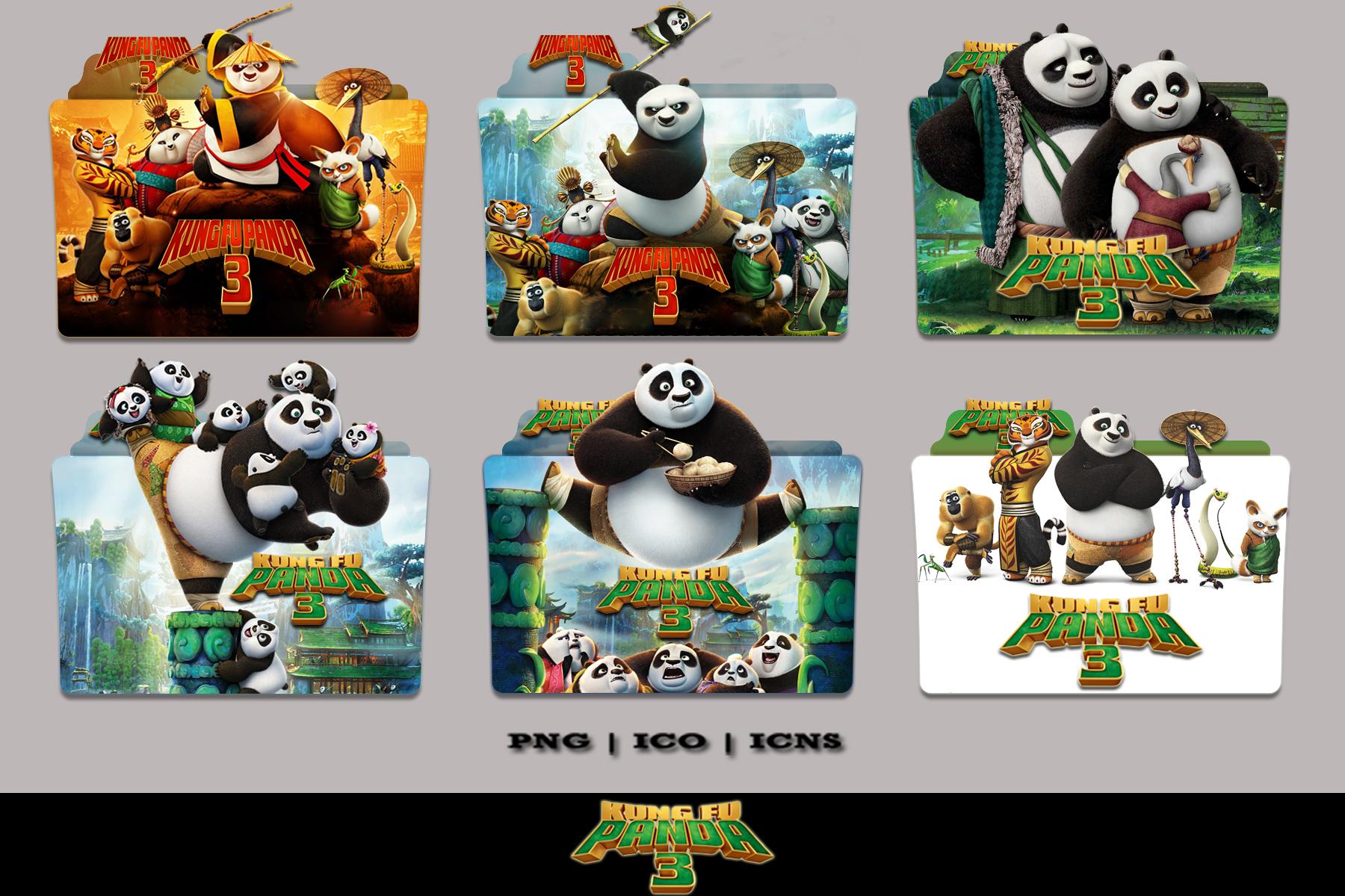 Kung Fu Panda 3 2016 Folder Icon Pack By Bl4cksl4yer On Deviantart