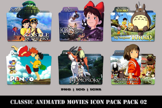 Classic Animated Movies Folder Icon Pack 02