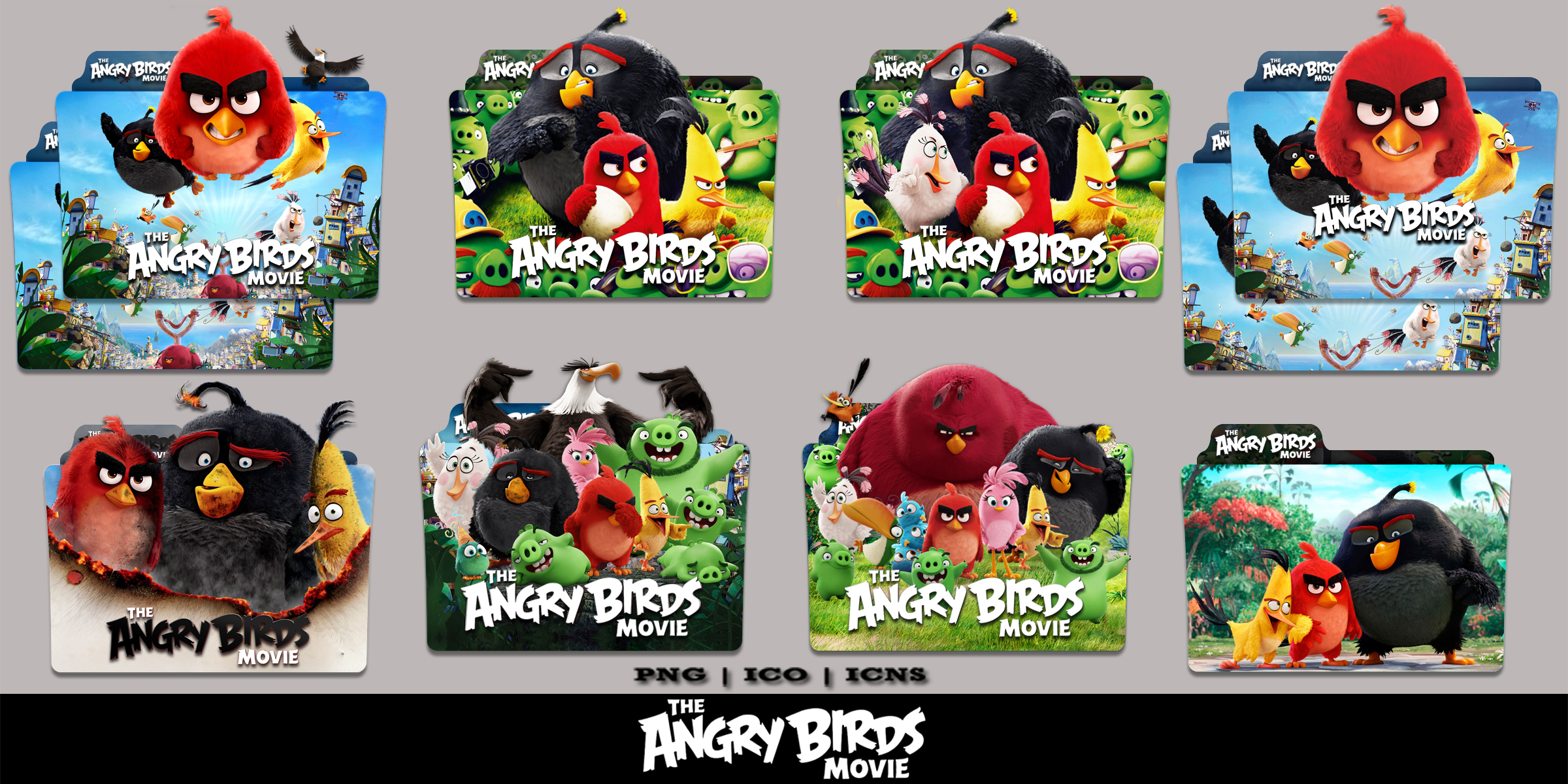 The Angry Birds Movie 2016 Folder Icon Pack By Bl4cksl4yer On Deviantart