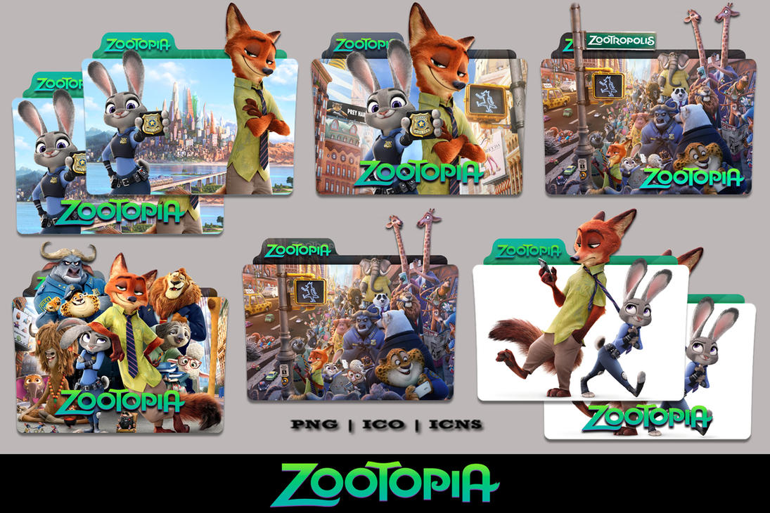 zootopia 2016 folder icon pack by bl4cksl4yer on deviantart