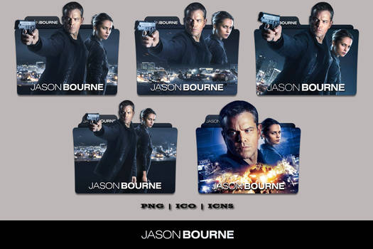 Jason Bourne (2016) Folder Icon Pack by Bl4CKSL4YER