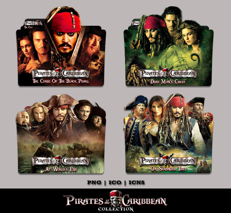 Pirates Of The Caribbean 1 4 Collection Icon Pack By Bl4cksl4yer On