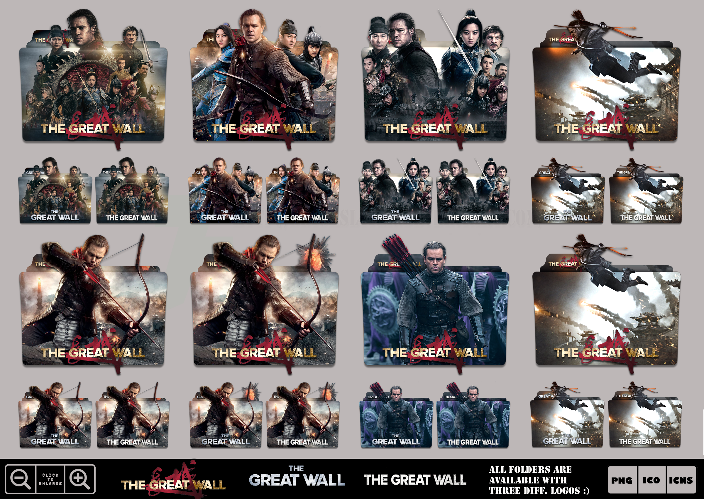 The Great Wall 2016 Folder Icon Mega Pack By Bl4cksl4yer On Deviantart
