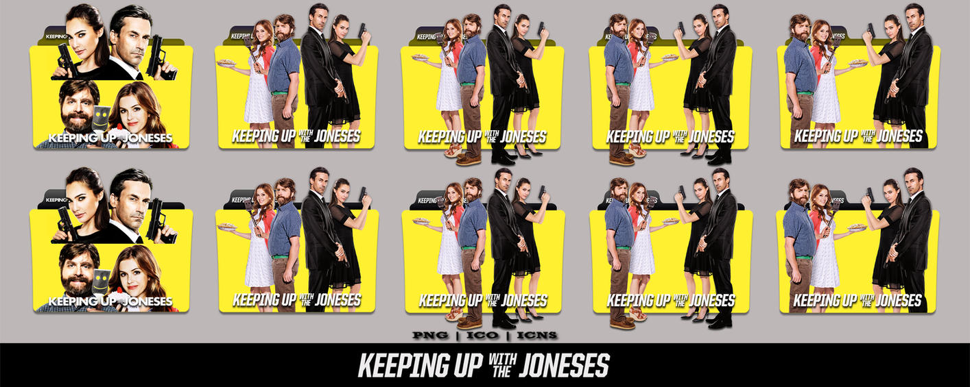 Keeping Up With The Joneses Download: Keeping Up With The Joneses (2016)Folder Icon Pack By