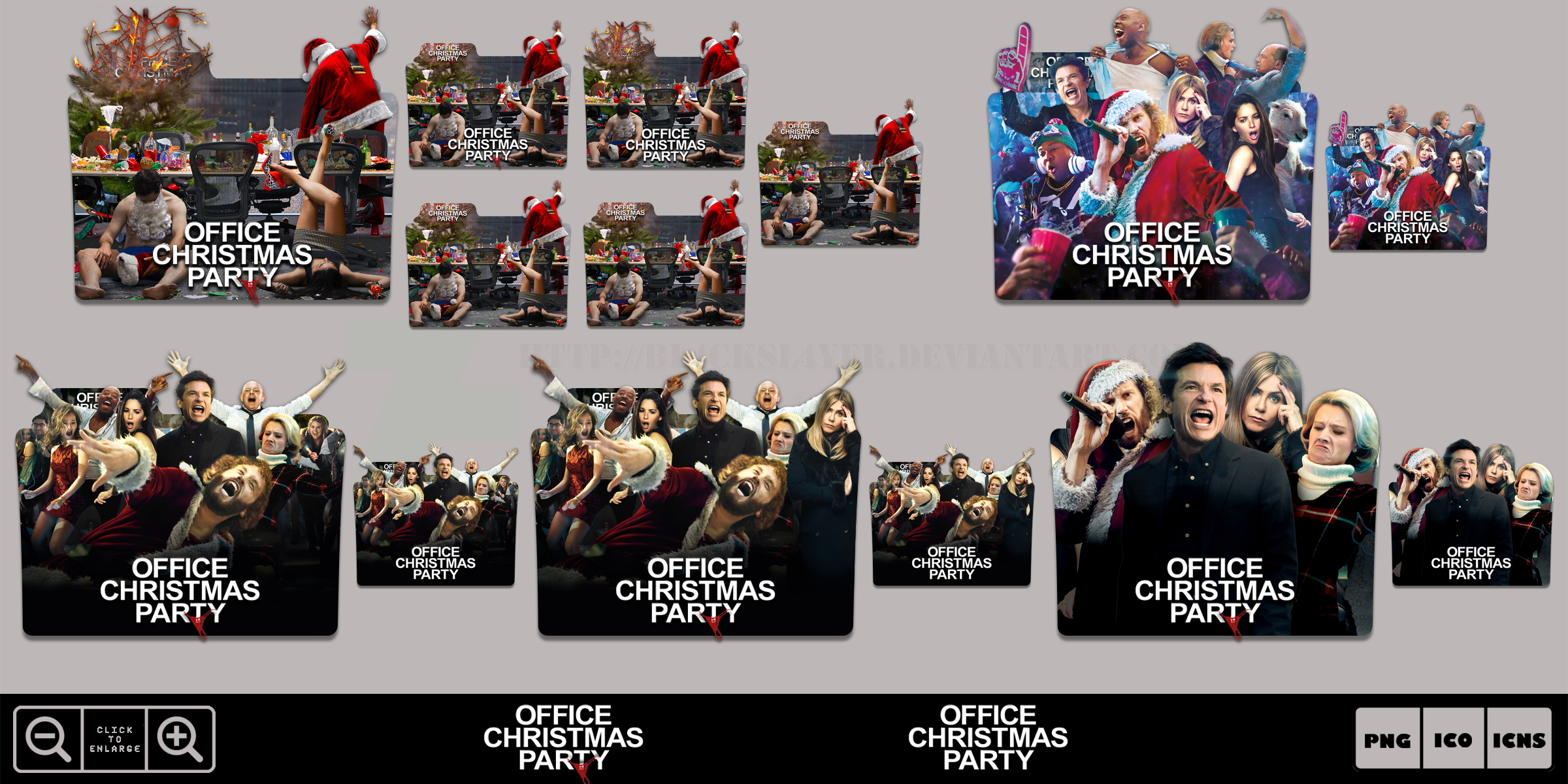 Office Christmas Party (2016) Folder Icon Pack by Bl4CKSL4YER on ...