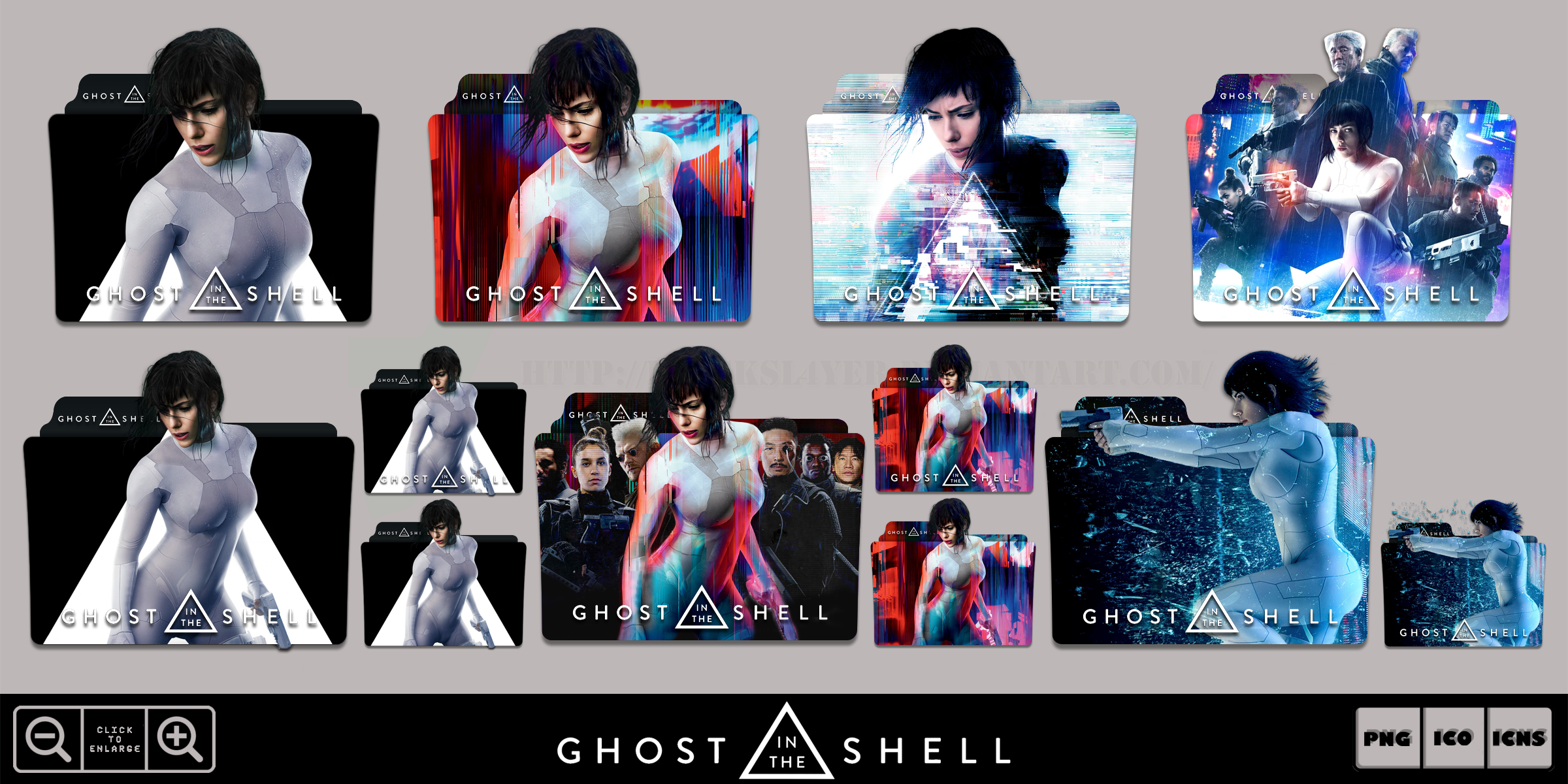 Ghost In The Shell 2017 Folder Icon Pack By Bl4cksl4yer On Deviantart