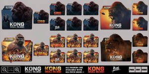 Kong Skull Island (2017) Folder Icon Pack by Bl4CKSL4YER