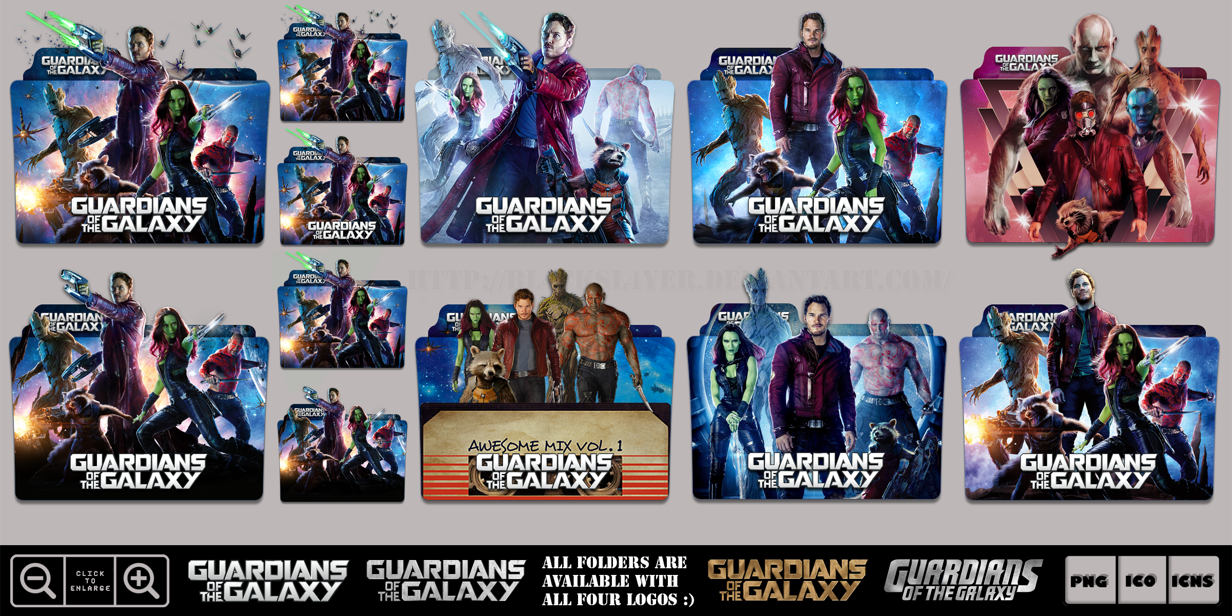 Guardians Of The Galaxy 2014 Megaaaaaa Icon Pack By Bl4cksl4yer On