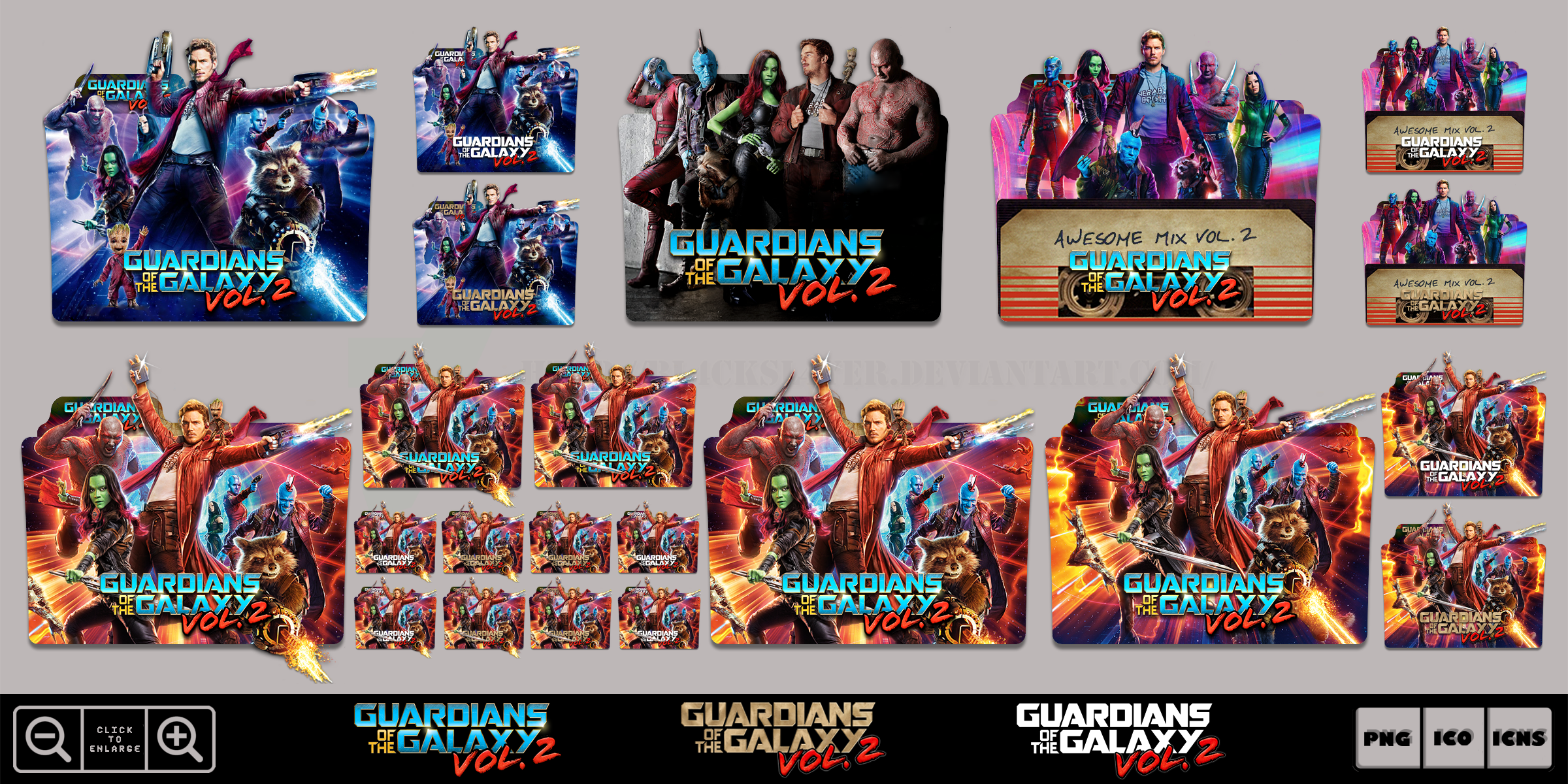 Guardians Of The Galaxy Vol 2 2017 Icon Pack By Bl4cksl4yer On Deviantart