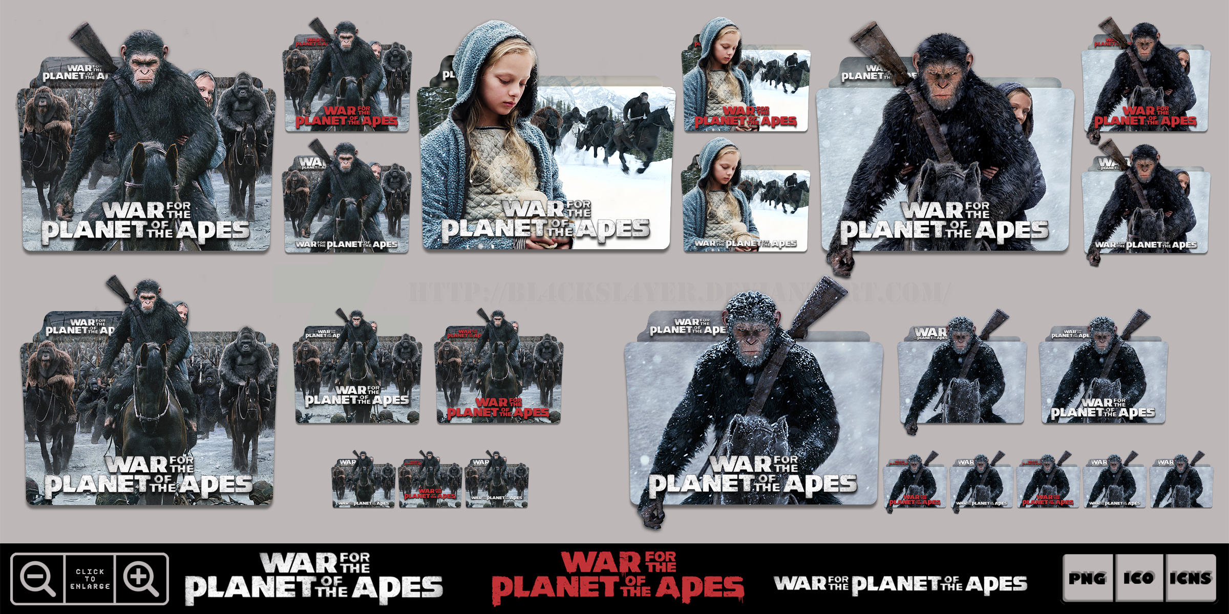 War For The Planet Of The Apes 2017 Icon Pack By Bl4cksl4yer On Deviantart