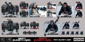 War for the Planet of the Apes (2017) Icon Pack