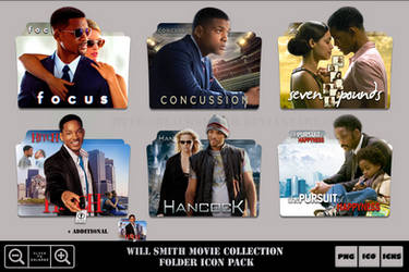 Will Smith Movie Collection Folder Icon Pack by Bl4CKSL4YER