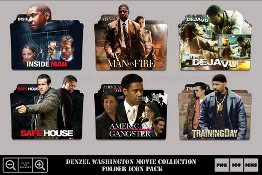 Denzel Wahington Movie Collection Folder Icon Pack