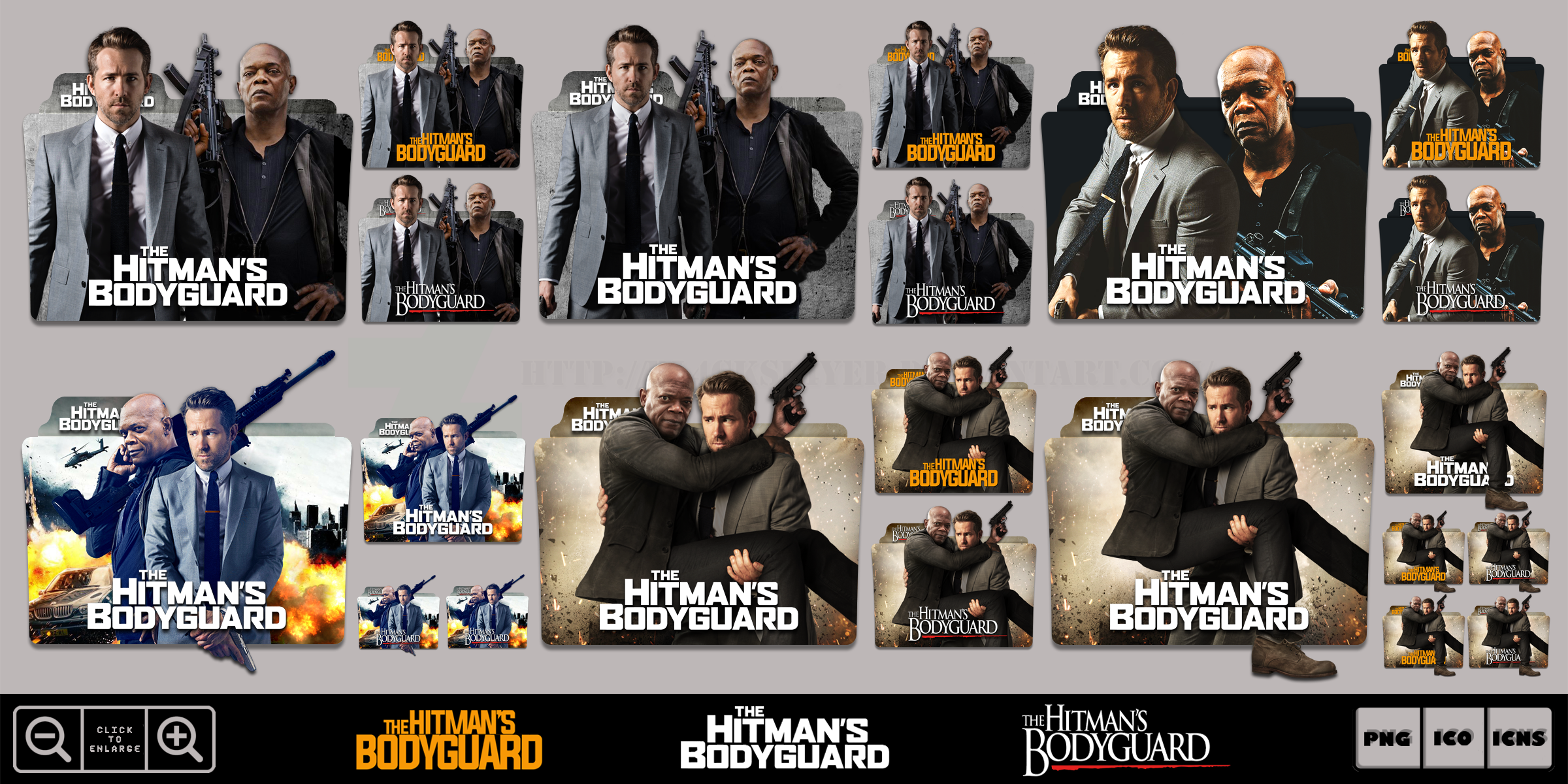 The Hitman S Bodyguard 2017 Folder Icon Pack By Bl4cksl4yer On Deviantart