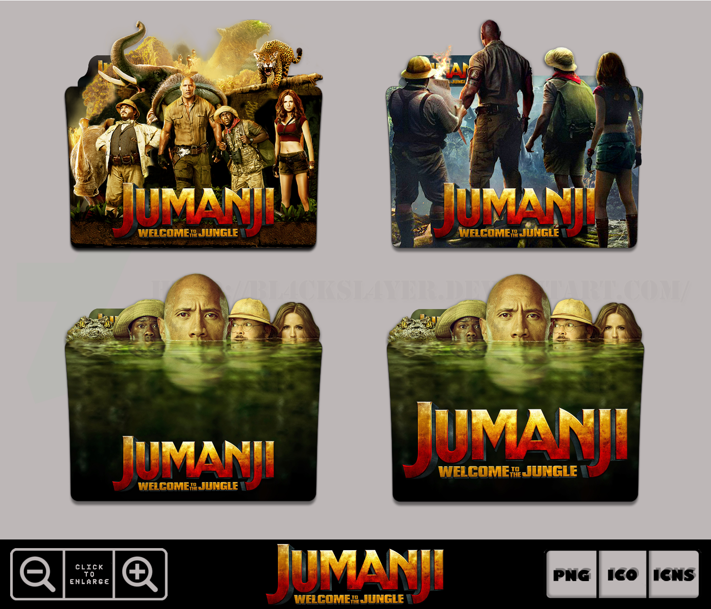 Jumanji Welcome To The Jungle (2017) Icon Pack by