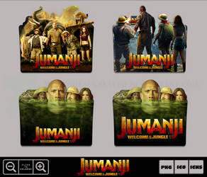 Jumanji Welcome To The Jungle (2017) Icon Pack