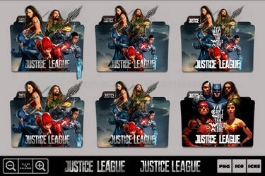 Justice League (2017) Folder Icon Pack 2 by Bl4CKSL4YER